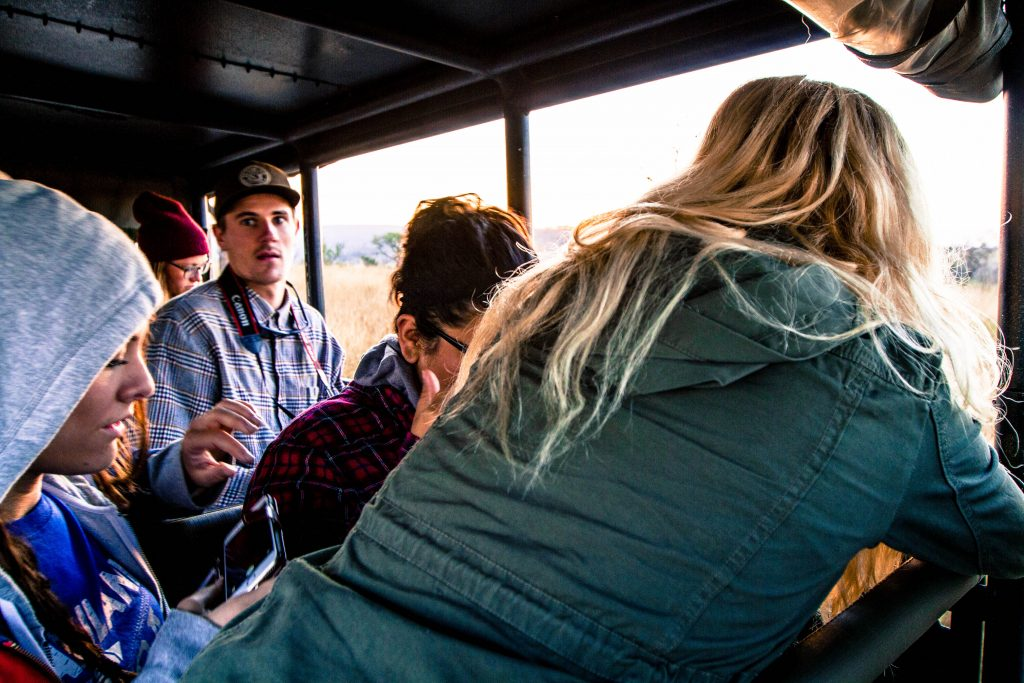 isimangaliso park clients on safari tour